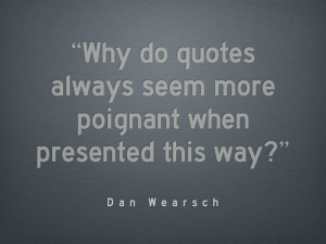 A great quote via Publishers Weekly & the Nerd.Is blog