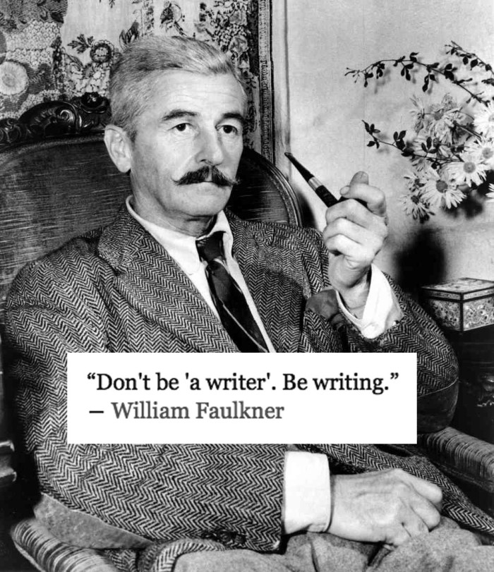 portrait of the author-faulkner