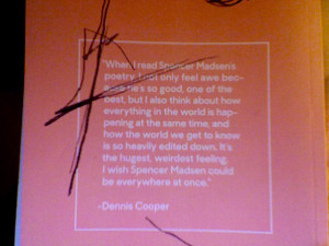 spencer madsen back cover quote