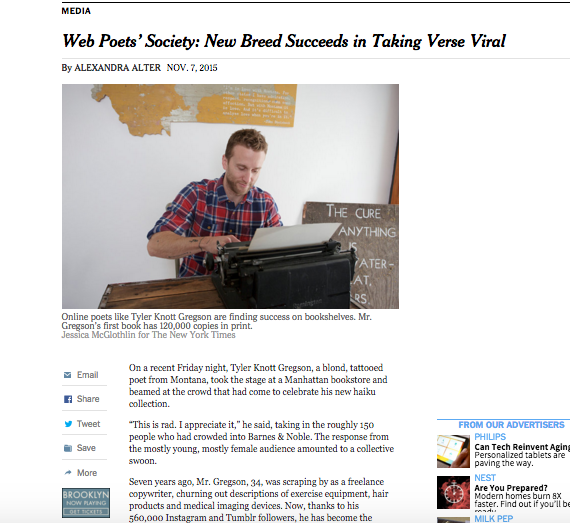 About That NY Times 'Web Poets' Article…